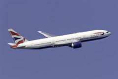 British Airways 777-200ER G-VIIL at London Heathrow LHR/EGLL (dan89876) Tags: british airways boeing 777 b772 777200er 777236er gviil london heathrow international airport takeoff 09r banking lhr egll