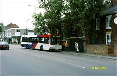 Scania N113 1399 Bloxwich High Street. ((Stop) The Clocks) Tags: 1399 travelwestmidlands scanian113 walsall bloxwich bloxwichhighstreet people fordescort wmpte shops p399fvp