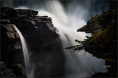 Secret Depths (Maclobster) Tags: athabasca falls jasper water fall alberta chiaroscuro inspiration contemplation