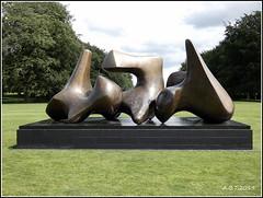 Houghton Hall.'Three Piece Sculpture Vertebrae' by Henry Moore (Alan B Thompson) Tags: 2019 june sculpture lumix fz82 picassa