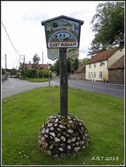 East Rudham Village Sign (Alan B Thompson) Tags: 2019 june sign lumix fz82 picassa