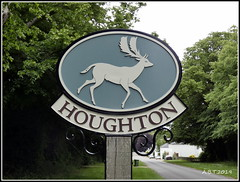 Houghton Village Sign (Alan B Thompson) Tags: 2019 june sign lumix fz82 picassa