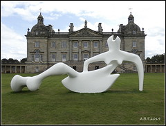 Houghton Hall. 'Large Reclining Figure' by Henry Moore (Alan B Thompson) Tags: 2019 june sculpture lumix fz82 picassa