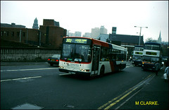 1398 (P398 FVP) ((Stop) The Clocks) Tags: 1398 p398fvp twm walsall travelwestmidlands mcw mcwmetrobus scanian113 scania