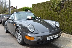 Porsche 911 Carrera 4 964 (Monde-Auto Passion Photos) Tags: vehicule voiture auto automobile porsche 911 carrera 964 coupé gris grey ancienne classique collection sportive rassemblement france courtenay
