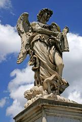 Rom, Ponte Sant'Angelo, Engel mit der Geissel (Angel with the flagellum) (HEN-Magonza) Tags: rom roma rome italien italy italia engelsbrücke pontesantangelo engel angel gianlorenzobernini geisel flagellum rioneborgo