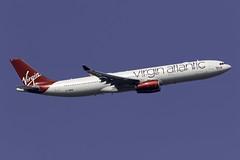 Virgin Atlantic A330-300 G-VWAG at London Heathrow LHR/EGLL (dan89876) Tags: virgin atlantic airbus a330 a330300 a333 a330343 gvwag miss england london heathrow international airport takeoff 09r banking lhr egll