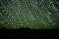 Meteor and Star Trails