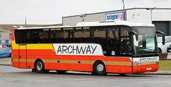 Archway Travel, Fleetwood YJ57BTZ on Copse Rd in Fleetwood. (Gobbiner) Tags: archwaytravel yj57btz vanhool