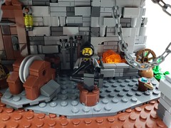 Medieval Blacksmith Shop (ben_pitchford) Tags: lego afol moc medieval blacksmith blacksmithshop castle legocastle toyphotography legophotography architecture forge anvil