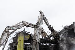 Tag team demolition (WSDOT) Tags: seattle gp construction wsdot alaskan way viaduct replacement demolition 2019