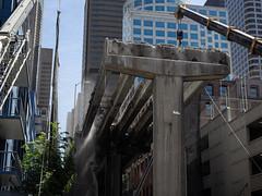 Demolishing the Seneca Street off-ramp (WSDOT) Tags: seattle gp construction wsdot alaskan way viaduct replacement demolition 2019