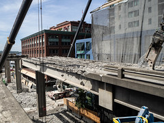 Another view of Seneca Street off-ramp removal (WSDOT) Tags: seattle gp construction wsdot alaskan way viaduct replacement demolition 2019