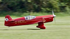Mew Gull (Bernie Condon) Tags: percival mewgull racing plane aircraft vintage preserved percivalcompanyukbritishshuttleworthcollectionold wardenairfieldairshowdisplayaviationflyingfestival flightjune 2019