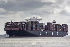 UASC BARZAN (antowo1) Tags: uasc barzan unitedarabshippingcompany container schiff fracht fright ship elbe river fluss hamburg deutschland canon eos