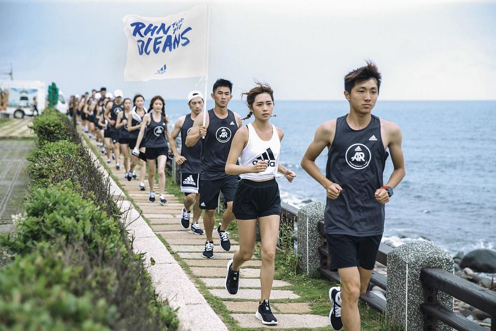 3. adidas號召所有支持環保行動的熱血跑者,於6月8日至6月16日期間「為海開跑」