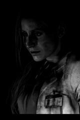 Annette (Biskveet) Tags: resident evil 2 re2 residentevil2 portrait closeup monochrome reshade screenshot digital art annette birkin