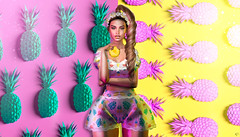 Dripping Pineapple (meriluu17) Tags: foxcity sintiklia ersch glamaffair pineapple tropicalk tropical summer juicz dripping fruit eat drug people portrait colors