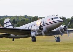 Pan Am World Airways DC-3C N33611 (birrlad) Tags: duxford iwm london uk airshow aircraft aviation airplane airplanes prop vintage classic realaircraft douglas dc3 dc3c dak daksovernormandy panam world airways n33611 flame props
