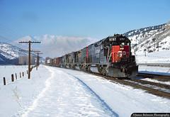 Shock & Awe (jamesbelmont) Tags: southernpacific drgw riogrande emd sd45t2 tunnelmotor spanishforkcanyon rio utah train railroad railway locomotive loafermountain snow winter