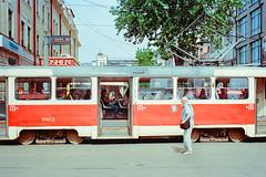 Tram in Kiev (titan3025) Tags: leica leicam6 m6 kodak ultramax 400 kiev 2019