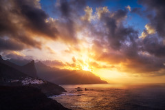 Tenerife sunset in Almaciga 7R20206 (joana dueñas) Tags: tenerife anaga canaryislands sunset seascape clouds colorful