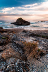 Plants and Rocks (Angel T.) Tags: seaside seascape landscape sea sanxenxo spain galicia nikon irix sunset