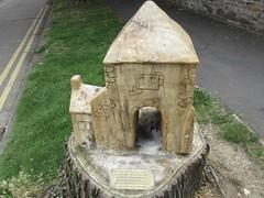 Abbey Place, Faversham, Kent (LookaroundAnne) Tags: gwuk chainsaw tree carving wood sculpture inner gateway gate faversham abbey kent