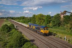 66748 At Catholme. 06/06/2019. (briandean2) Tags: 66748 westburton50 class66 gbrf catholme staffordshire wichnorjunction railways ukrailways ukfreighttrains ukengineeringtrains