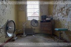 A Shoddy Setup (ficktionphotography) Tags: abandonedbuilding abandoned abandonedschool abandonedasylum medicalequipment medical urbex urbanexploration peelingpaint discarded