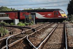 Flat Line (Andrew Shenton) Tags: newark flat crossing 43251 43312 1a41 leeds kings cross ecml lner hst intercity 125