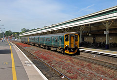 150249 143619 Exeter St Davids (CD Sansome) Tags: exeter st davids train trains station great western railway first gwr sprinter pacer 143 143619 150 150249