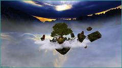 Portails suspendus ... (Tim Deschanel) Tags: tim deschanel sl second life exploration paysage landscape the beast forest cherokee suspended gates portail suspendu ciel nuage