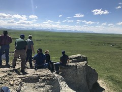 KEPA (Oldman Watershed) Tags: kepa cliffrock mountain range hoodoo elders grass wildflowers blackfoot rock sky sydney rebekkah outreach assistants