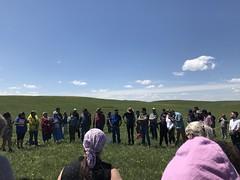 KEPA (Oldman Watershed) Tags: kepa grass sky elders blackfoot ranch native wildflowers sydney rebekkah outreach assistants board members plant walk