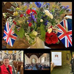 157 2019 D-Day, new chapel and Charlie's funeral (Margaret Stranks) Tags: 157365 365days 2019 flowers red white blue flags unionflag funeral stswithinschurch chapelofourlady williamstrip quenington colnstaldwyns hatherop dday75