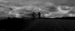 No end in sight (osmodaious) Tags: blackandwhite cycle scotland carmgorms weather storm clouds silhouette