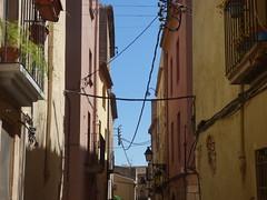 Carrer Poblet i Teixidó, Montblanc (ell brown) Tags: montblanc tarragona catalonia catalunya spain españa tree trees concadebarberà pradesmountains carrerparlaments carrerpobletiteixidó balcony balconies