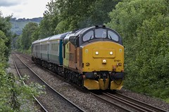 37421 at Heath High Level, Cardiff, south Wales (Dai Lygad) Tags: cardiff wales uk rhymneyvalley locohauled locomotives engines class37 37421 37418 june 2019 flickrstock stock photos photographs pictures images canon 80d eos camera flickr jeremysegrott trainspotting publictransport travel summer