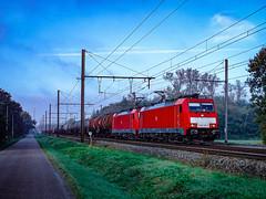 DB Cargo 186 330-7 & 186 340-6 met keteltrein @ Testelt (Avinash Chotkan) Tags: db cargo traxx br186 bombardier trains belgium gatx traction