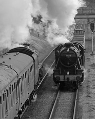Main Line (Treflyn) Tags: british railways stanier 8f 280 48624 br standard class 5mt 73156 pass each other woodthrope great central railway timeline events photo charter main line tle gcr