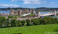 45690 | Conwy Castle | 6th June '19 (Frank Richards Photography) Tags: stanier jubilee no 45690 leander train 1z67 london euston holyhead the cathedrals express steam dreams rail co irish mail conwy castle llandudno junction railway lms uk wales north coast black mark1 mark2 coach nikon d7100 june 6th 2019