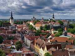 Tallinn, Estonia (ABWphoto!) Tags: europe estoniatallinn medevil architecture traveldestination chuch walls buildings exterior nobody city clouds historic