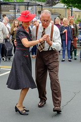 XPRO6955-1 Brighouse, uk. 1940's weekend June 1st 2019 (Lawrence Holmes.) Tags: fuji xpro1 xf1855mmf284rlmois brighouse 1940s 1940 reenactment nostalgia brighouse1940sweekendjune1st2019 streetphotography street fashion calderdale westyorkshire uk swing brighouse1940sweekend lawrenceholmes