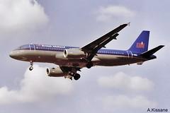 BRITISH MIDLAND A320 G-MIDZ (Adrian.Kissane) Tags: sky plane flying aircraft jet 1999 aeroplane airbus airliner lhr a320 bmi gmidz 934 heathrow london britishmidland outdoors