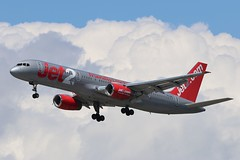 Jet2 Boeing 757-200 G-LSAI (Adam Fox - Plane and Rail photography) Tags: plane aircraft airliner jet airplane aeroplane sky clouds manchester airport egcc jet2com jet2holidays