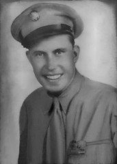 2019-06-06 Laurie's grandfather who landed on Omaha beach on D-day - monochrome (JLeeFleenor) Tags: enhanced oldpictures old iowa ia desmoines wwii omahabeach dday soldier warrior 1944 landing photos photography