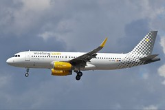 Vueling Airbus A320-200 EC-MVE (Adam Fox - Plane and Rail photography) Tags: plane aircraft airliner jet airplane aeroplane sky clouds manchester airport egcc vuelingcom