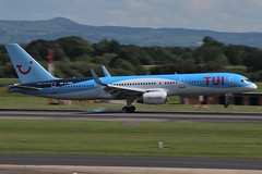 TUI Boeing 757-200 G-OOBG (Adam Fox - Plane and Rail photography) Tags: plane aircraft airliner jet airplane aeroplane sky clouds manchester airport egcc thomson
