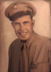 2019-06-06 Laurie's grandfather who landed on Omaha beach on D-day (JLeeFleenor) Tags: enhanced oldpictures old iowa ia desmoines wwii omahabeach dday soldier warrior 1944 landing photos photography